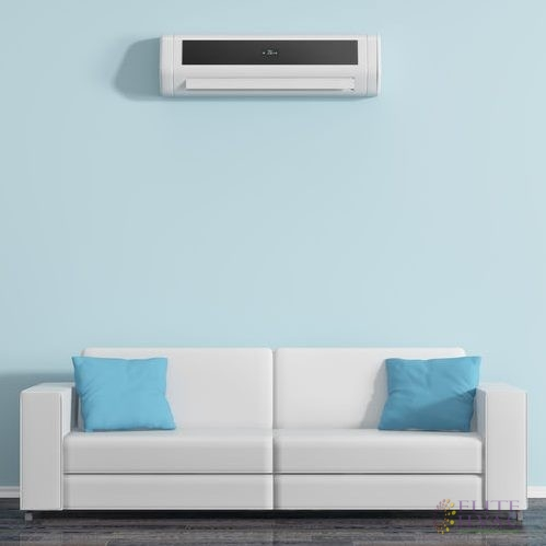 Air Conditioner Unit on the Wall Above a Sofa