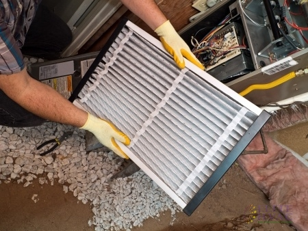Checking the Air Filter as Part of Home Heater Maintenance